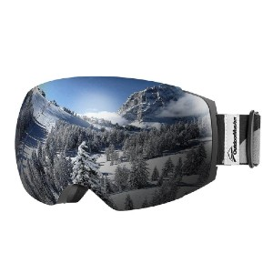 OutdoorMaster SKI GOGGLES PRO CLASSIC - Best Goggles for Skiing: Magnetic Interchangeable Lens System