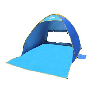 Outdoorsman Lab Pop Up Tent UV 50 Protection Sun Shade for Beach - Best Beach Tents for Family: Tent with Multi-Functional Carrying Bag