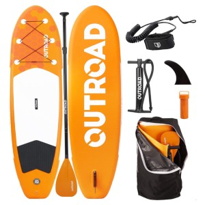 Outroad Water Inflatable Stand Up Paddle Board - Best Paddle Board for Ocean: Friendly Users Inflatable Paddle Board