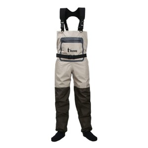 Ouzong 3-Ply Stocking Foot Chest Wader - Best Waders for Fly Fishing: Adjustable H-back suspenders