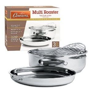 Camerons Oval Multi Roaster - Best Roasting Pan for Vegetables: 3-in-1 Multi Roaster