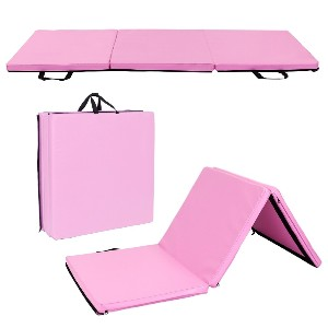 Overstock Gym Household Tri-fold Gymnastics Yoga Mat with Hand Buckle  - Best Yoga Mat for Beginners: Foldable Yoga Mat