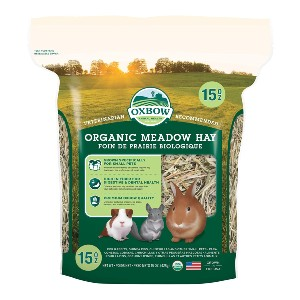Oxbow Animal Health Organic Meadow Hay - Best Hay for Baby Rabbit: Soft Stemmed Grass