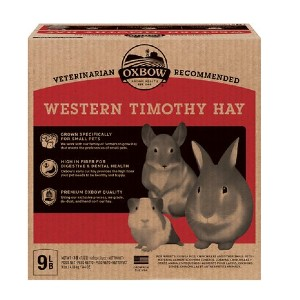 Oxbow Western Timothy Hay Small Animal Food - Best Hay for Baby Rabbit: Higher-Fiber Diet Food