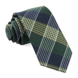 Tie Bar Oxford Plaid Hunter Green Tie - Best Ties for Young Professionals: Best for checkered shirts