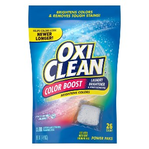 OxiClean Color Boost Color Brightener plus Stain Remover Power Paks - Best Laundry Detergents Stain Remover: Great Stain Remover and Color Brightener