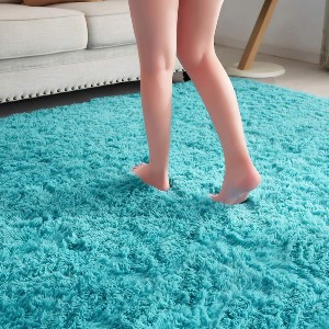 Pagisofe Soft Fluffy Blue Area Rugs  - Best Rug for Queen Size Bed: Boost your mood