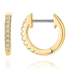 PAVOI 14K Gold Plated Earrings - Best Jewelry for Helix Piercing: Meticulous finishing
