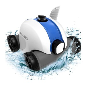 PAXCESS Cordless Automatic Pool Cleaner - Best Robotic Pool Cleaner for Leaves: Great Mobility Rechargeable Cleaner