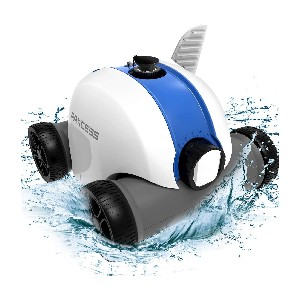 PAXCESS Cordless Automatic Pool Cleaner - Best Automatic Pool Cleaner Above Ground: Great Mobility Rechargeable Cleaner