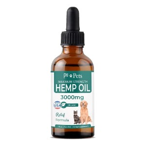 PB Pets Hemp Oil for Dogs and Cats (3000mg) - Best CBD Oil for Dogs on Amazon: Organic Hemp Oil for Joint Relief