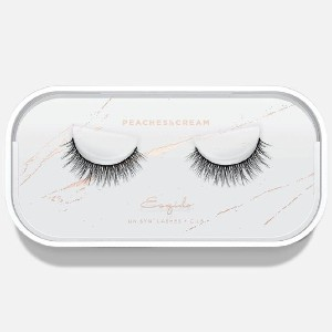 Esqido PEACHES & CREAM - Best Lashes for Almond Eyes: Longer Clusters of Ultra-Fine Strands