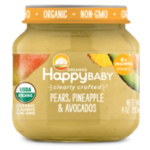 Organics Happy Baby Pears, Pineapple & Avocado - Best Organic Baby Foods: Goodness by The Spoonful