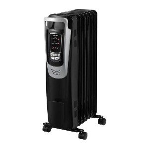 PELONIS Electric 1500W Oil Filled Radiator Heater with Safety Protection - Best Space Heater for Basement: Heater with oil-filled radiator