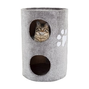 PETMAKER  Cat Condo 2 Story Double Hole with Scratching Surface - Best Cat Tree for Senior Cats: Cat Tree for Small Spaces
