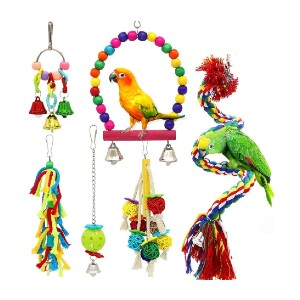 PETUOL Small Bird Swing Toys - Best Bird Toys for Cockatiels: A complete package