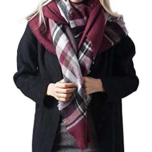 PIKABU Plaid Blanket Scarf - Best Scarves for Winter: Expel the cold air
