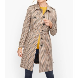Talbots POLISHED PLAID TRENCH COAT - Best Trench Coats for Petites: Pop The Collar and Knot The Belt