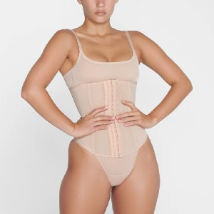SKIMS POWER MESH WAIST TRAINER - Best Shapewear for Wedding Dress: Boning at Front and Back