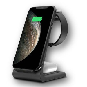 Moderno Collections PREMIUM 3 IN 1 FAST WIRELESS CHARGING STAND - Best Phone Stand for Desk: Intelligent Fast Charger