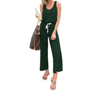 PRETTYGARDEN Women's Casual Solid Sleeveless Jumpsuit - Best Affordable Loungewear Sets: Easy to mix and match