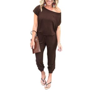 PRETTYGARDEN Women's Loose Off Shoulder Jumpsuit  - Best Casual Jumpsuit: Easy to dress up or down