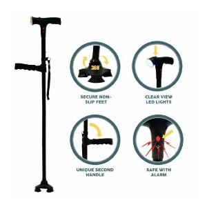 LegXercise PRO Cane - Best Cane for Tall Man: It comes with alarm!