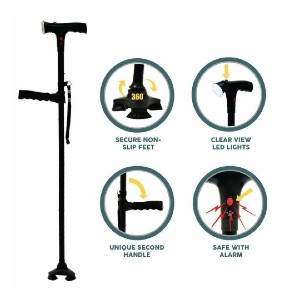 LegXercise PRO Cane - Best Cane for Back Pain: It comes with alarm!