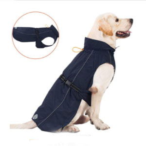 Pro Plums Store Adjustable Lightweight Jacket with Reflective Straps Buckle - Best Raincoats for Dogs: Adjustable Collar and Adjustable Back Strap Raincoat