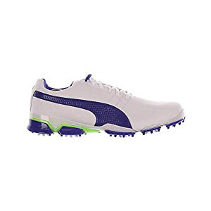 PUMA TitanTour IGNITE - Best Waterproof Golf Shoes: Full Grain Leather Upper Infused with PWRCOOL