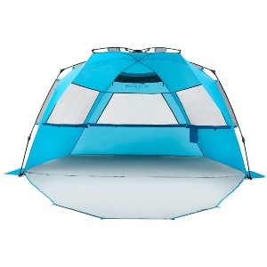Pacific Breeze Easy Setup Beach Tent Deluxe XL - Best Beach Tents for Wind: Lightweight Deluxe Tent