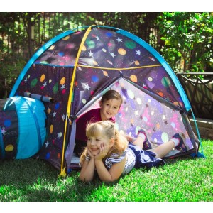 Pacific Play Tents Kids Galaxy Dome Tent w/Glow in the Dark Stars - Best Tents for Kids: Shining Stars Tent