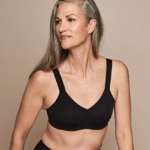 Knix Padded V-Neck Bra - Wide Strap - Best Wireless Bras for Big Busts: Performance Fabric