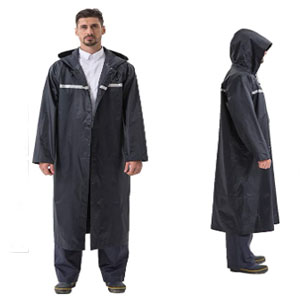 Pahajim Store Rain Ponchos with Hoods - Best Raincoat for Boating: Raincoat with Long Design