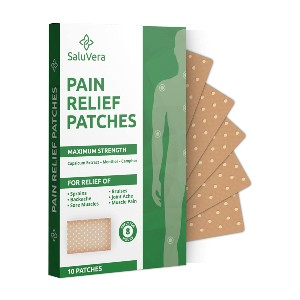 SaluVera Pain Relief Patches - Best Patches for Back Pain: Only Natural Ingredients