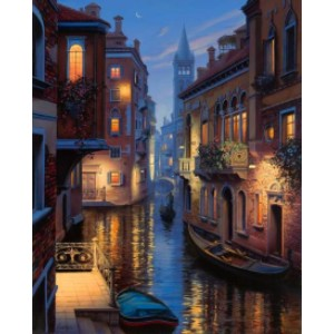 Masterpiece by Numbers Venice Canal - Best Paint by Number Kits for Adults: A Peaceful Canal Running Through Venice