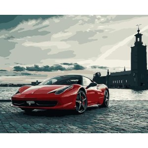 Paint by Numbers Love Painting of Italian Ferrari - Best Paint by Number Kits for Beginners: Mysterious Vibe and Go Beyond The Skyline