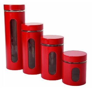 Anchor Hocking Palladian Glass and Stainless Steel - Best Canister Sets for Kitchen: Manufactured to Withstand Daily Use