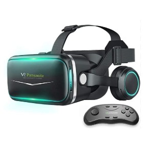 Pansonite VR Headset with Remote Controller - Best VR for iPhone: You'll get a remote!