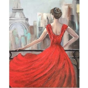 My Paint by Numbers Paris in Red - Best Paint by Number Kits for Beginners: Easy, Fun and Pretty Painting
