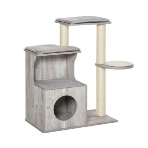 PawHut Cat Tree Climbing Activity Center - Best Cat Tree for Apartment: Easy-To-Set-Up Cat Tree