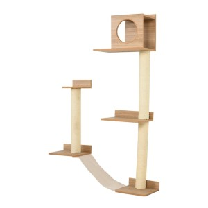 PawHut Wall-Mounted Multi-Level Cat Tree - Best Cat Tree for Small Spaces: Unique Design Cat Tree