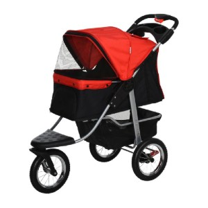 PawHut Luxury D00-108RD - Best Dog Strollers for Running: Solid Construction with Steel Frame