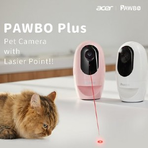 Pawbo+ Wi-Fi Interactive Pet Camera and Treat Dispenser - Best Cat Laser Toys: Smart Pet Camera with Laser