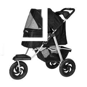 Paws&Pals Deluxe Folding - Best Dog Strollers for Small Dogs: Sturdily Built, Lightweight, Hand-Foldable Design