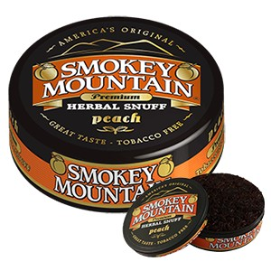 Smokey Mountain Peach Loose Snuff - Best Smokeless Tobacco: Tangy, Sweet, and Juicy Flavor