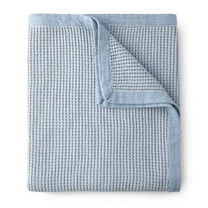 Peacock Alley Hudson Waffle Weave Blanket - Best Blanket for Couch: Everyday Use Blanket