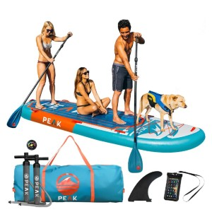 PEAK Titan Inflatable Stand Up Paddle Board - Best Paddle Boards for Dogs: Fast Inflatable Paddle Board