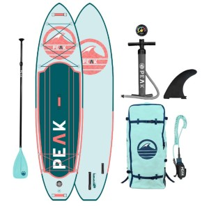 PEAK Expedition Inflatable Stand Up Paddle Board - Best Paddle Boards for Dogs: Easy Carry Inflatable Paddle Board