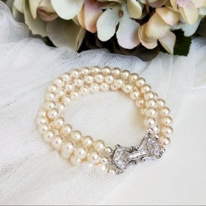Dream Island Jewellery Pearl Bridal Bracelet - Best Jewelry for Strapless Wedding Dress: It never goes wrong